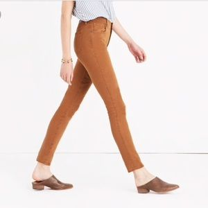 "Madewell sateen 9"" high-rise skinny jeans 24"
